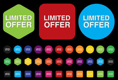 limited offer button Vector