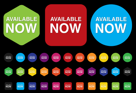 available now button Vector