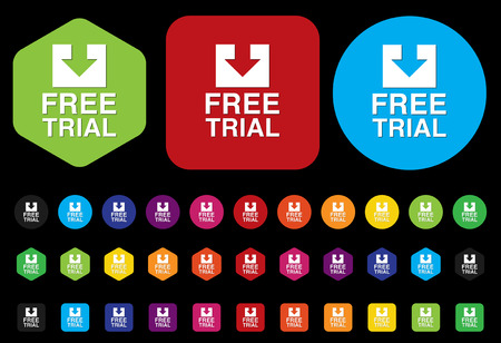 Free trial button Illustration