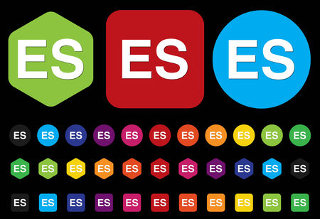 Spanish language ES sign icon