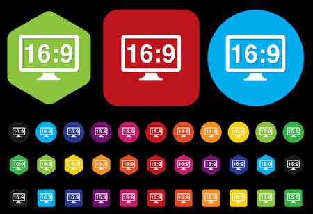 16 9: 16:9 display icon