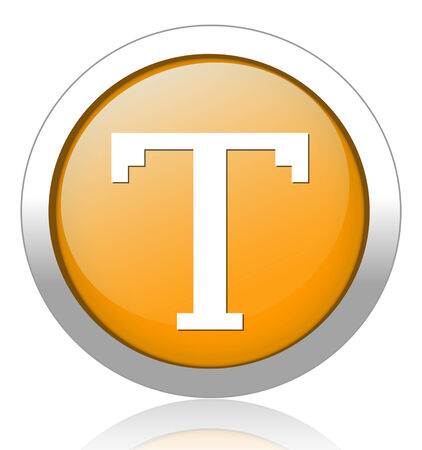 t square: Text edit sign icon Illustration