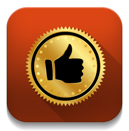 thumb up sticker isolated on a white background Vector