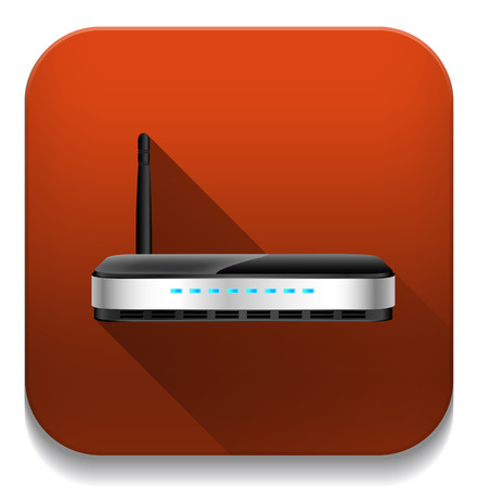 wap: wireless router With long shadow over app button