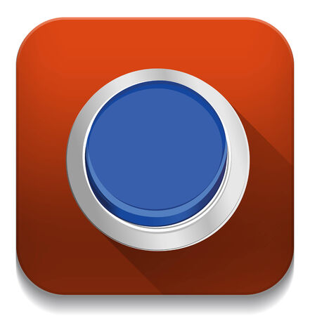 push button: push button With long shadow over app button
