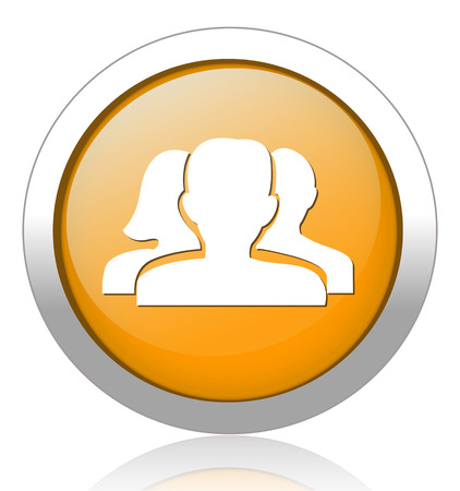 discussion forum: Blog button Illustration