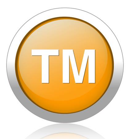 trademark: bot�n de la marca Vectores