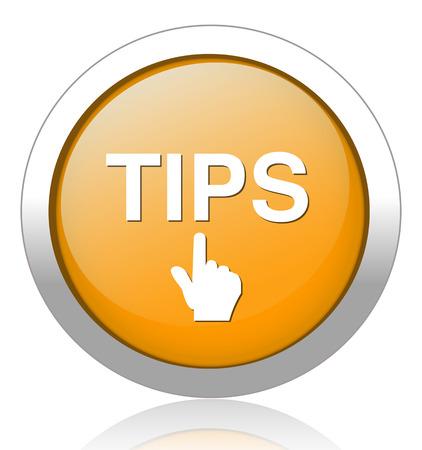 tippek: Tippek gomb Illusztráció