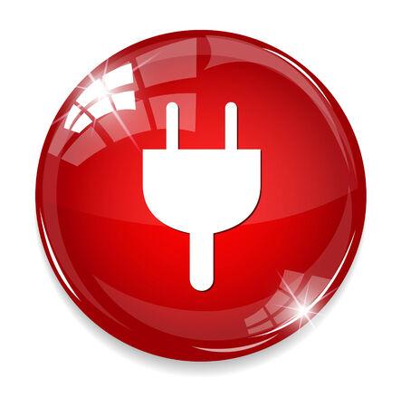 electric grid: Power plug button