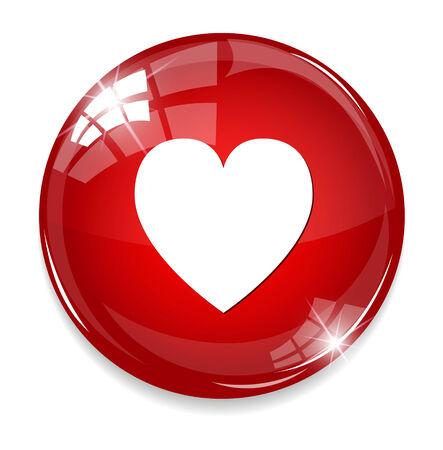 crumpled paper ball: heart button