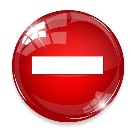 minus mark sign on button