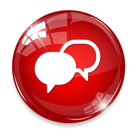 Talk bubbles icon Imagens - 32214383