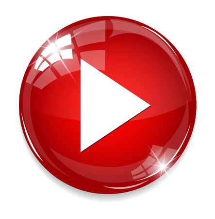 Media player button 矢量图像