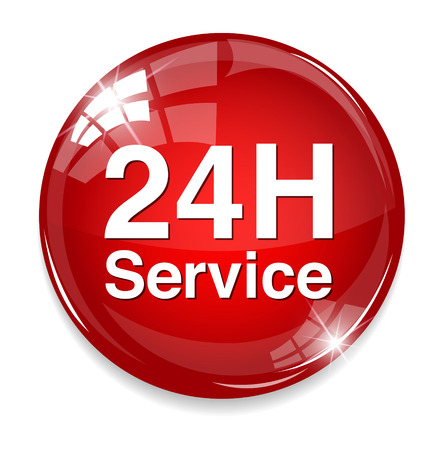 around the clock: 24 hours service button