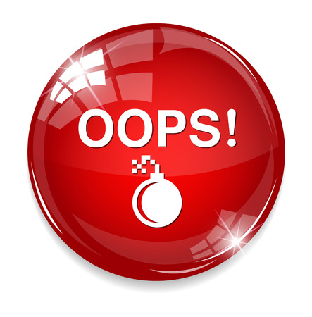mea: button with the word Oops!