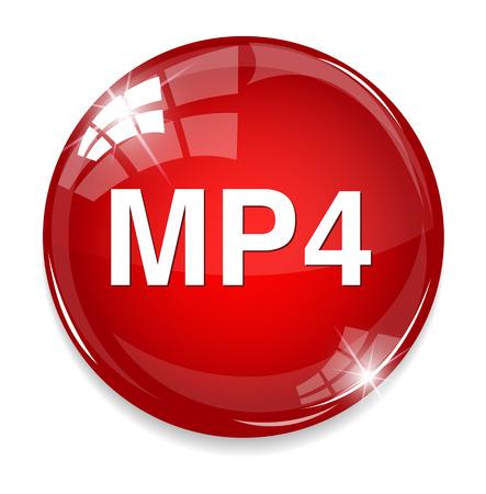 MP4 Video button Vector