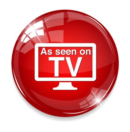 Como se ve en la señal de televisión Foto de archivo - 32211366