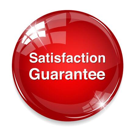 Customer satisfaction guarantee button Illustration