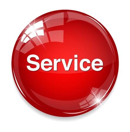 service button Illustration
