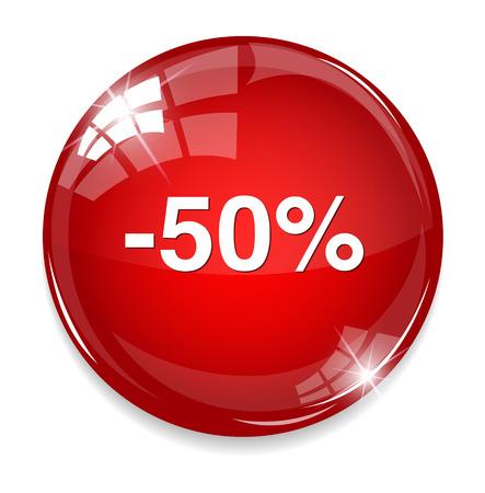 cheaper: fifty percent off button
