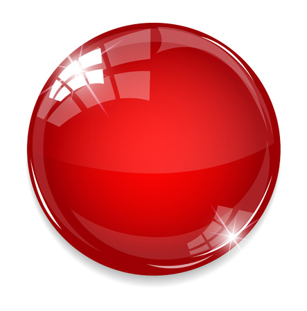 Empty red button Vectores