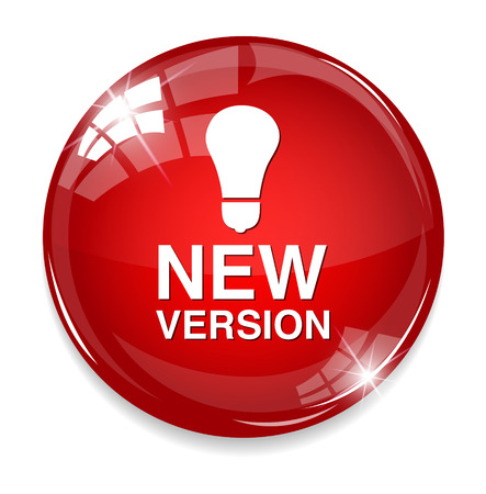 New version button Vector