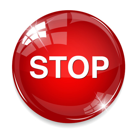 warning attention sign: STOP button