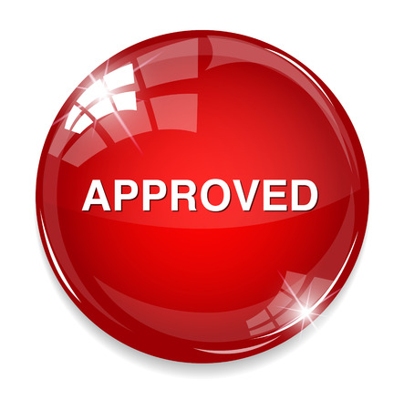 execute: approved button Illustration