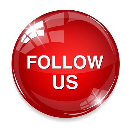 follow us button Vector