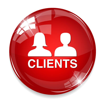 Clients glossy reflected  button Illustration