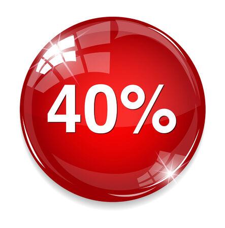 40 percent icon Vettoriali