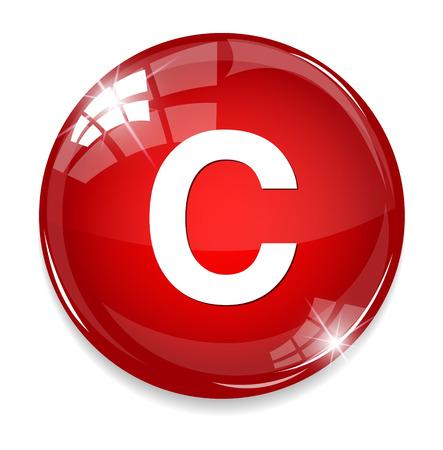 letter c: copyright icon Illustration