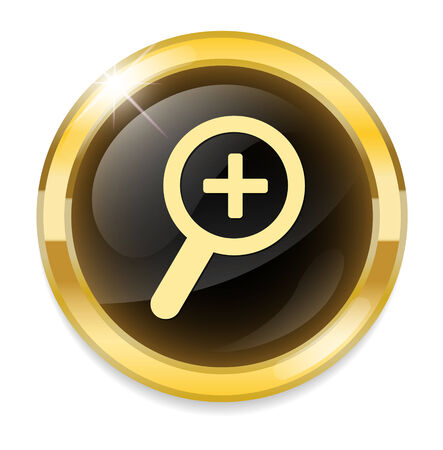 zoom in: zoom in glossy icon Illustration