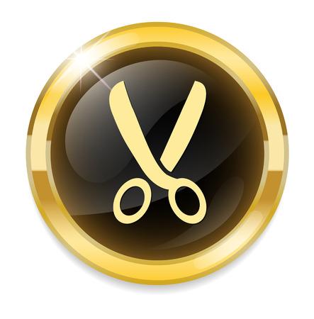 taylor: Scissors. icon Illustration