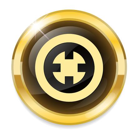 ziel icon: Zielsymbol Glas
