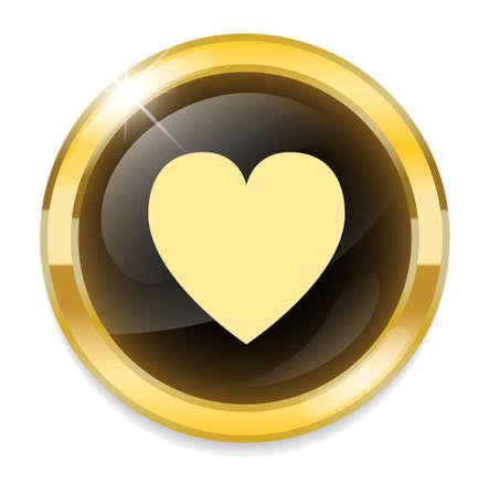 crumpled paper ball: round heart button