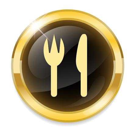restaurant button Vector