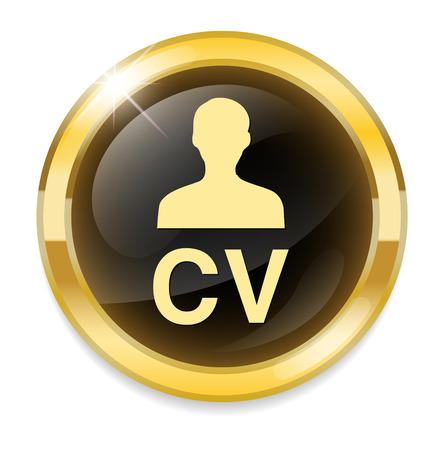 cv: round CV icon button Illustration