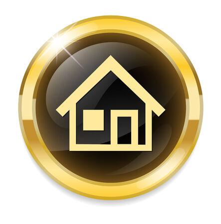 Home button  icon Vector