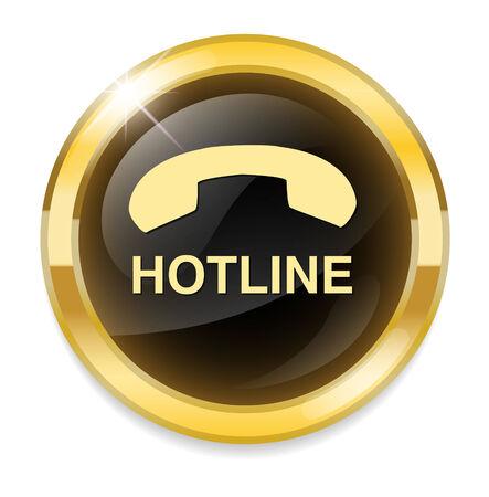 hotline button Vetores
