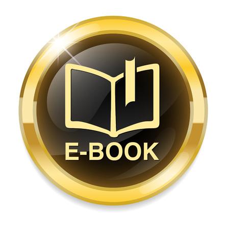testigo: Ebook bot�n con el icono Vectores