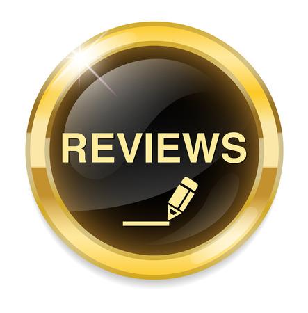 Review Button Иллюстрация