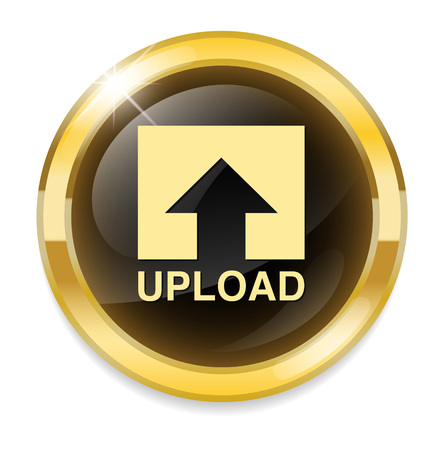 Upload Button, Upload icon and button Vector