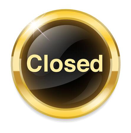 Closed Button Vector