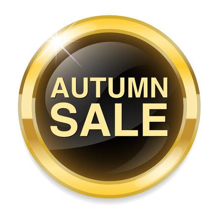 Autumn sale button Vector