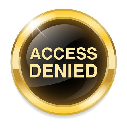 Security concept Access Denied button Vector