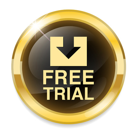 free trial: Free trial button Illustration