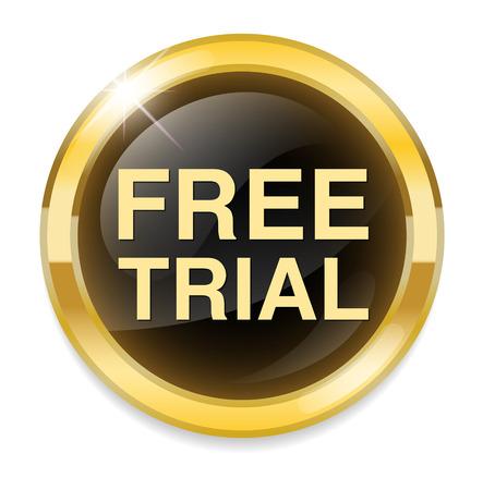 free trial icon Illustration