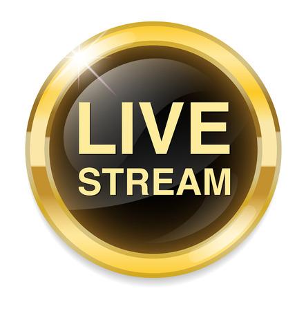 live stream sign: live stream icon