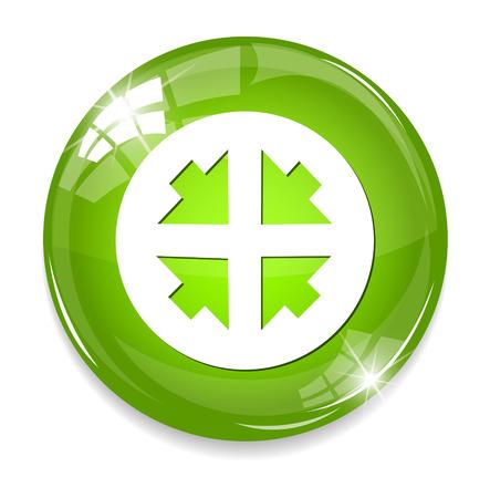 Four arrows button Vector